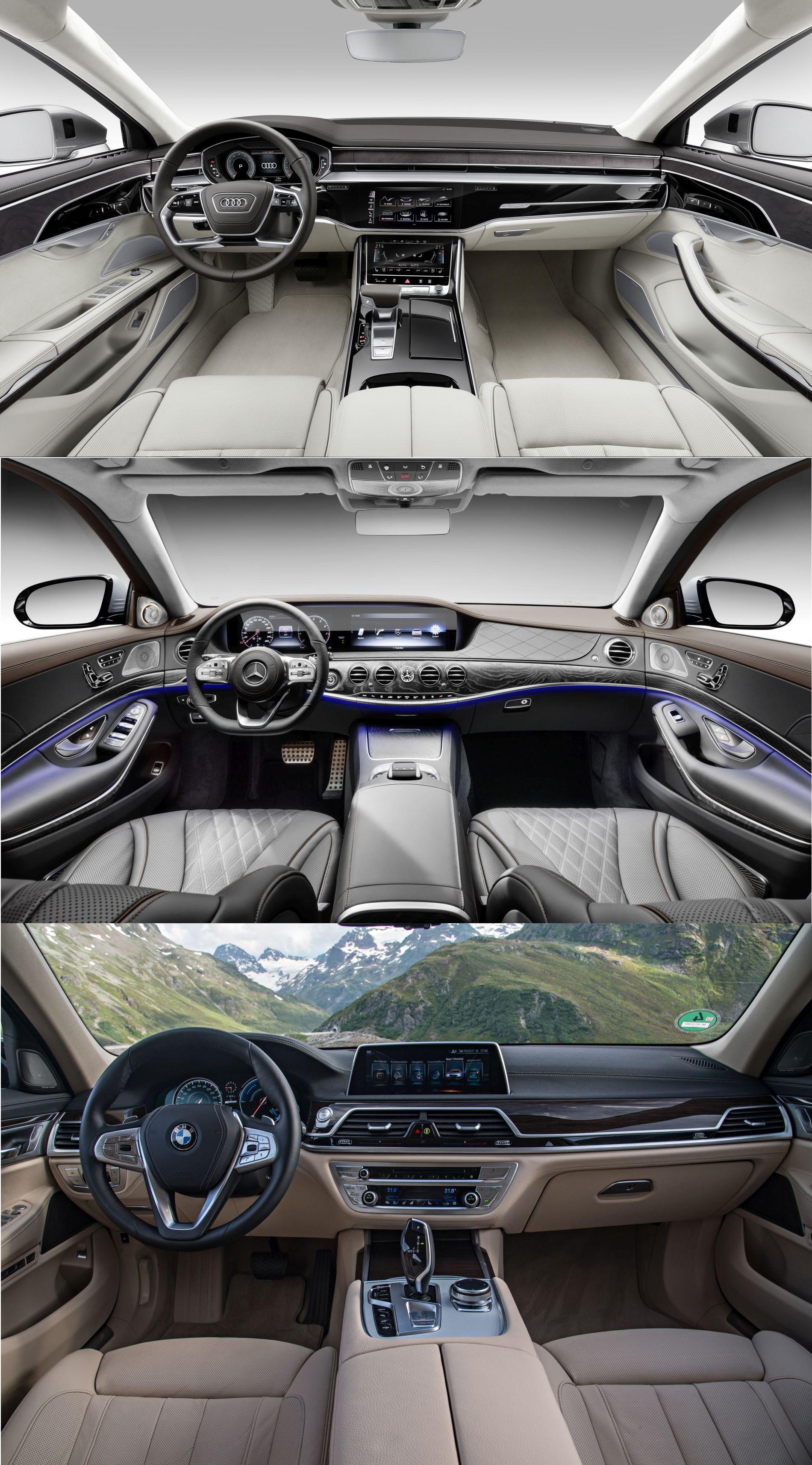 Cockpits Audi A8, Mercedes S-Klasse, BMW 7