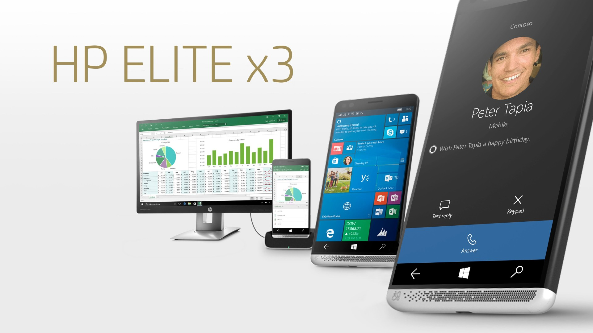 HP Elite X3 - Call and Work