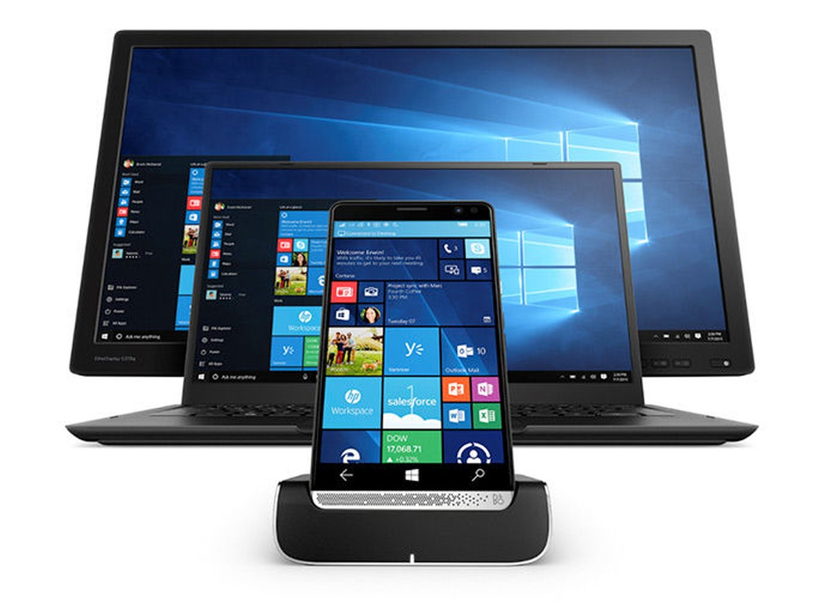 HP Elite x3 - Lap Dock und Monitor
