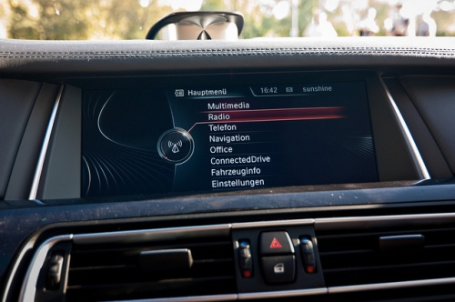 BMW Informationsscreen