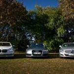 BMW 7, Audi 6, Mercedes CLS