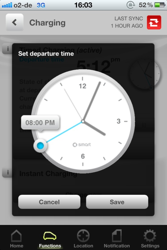 smartapp charging timing