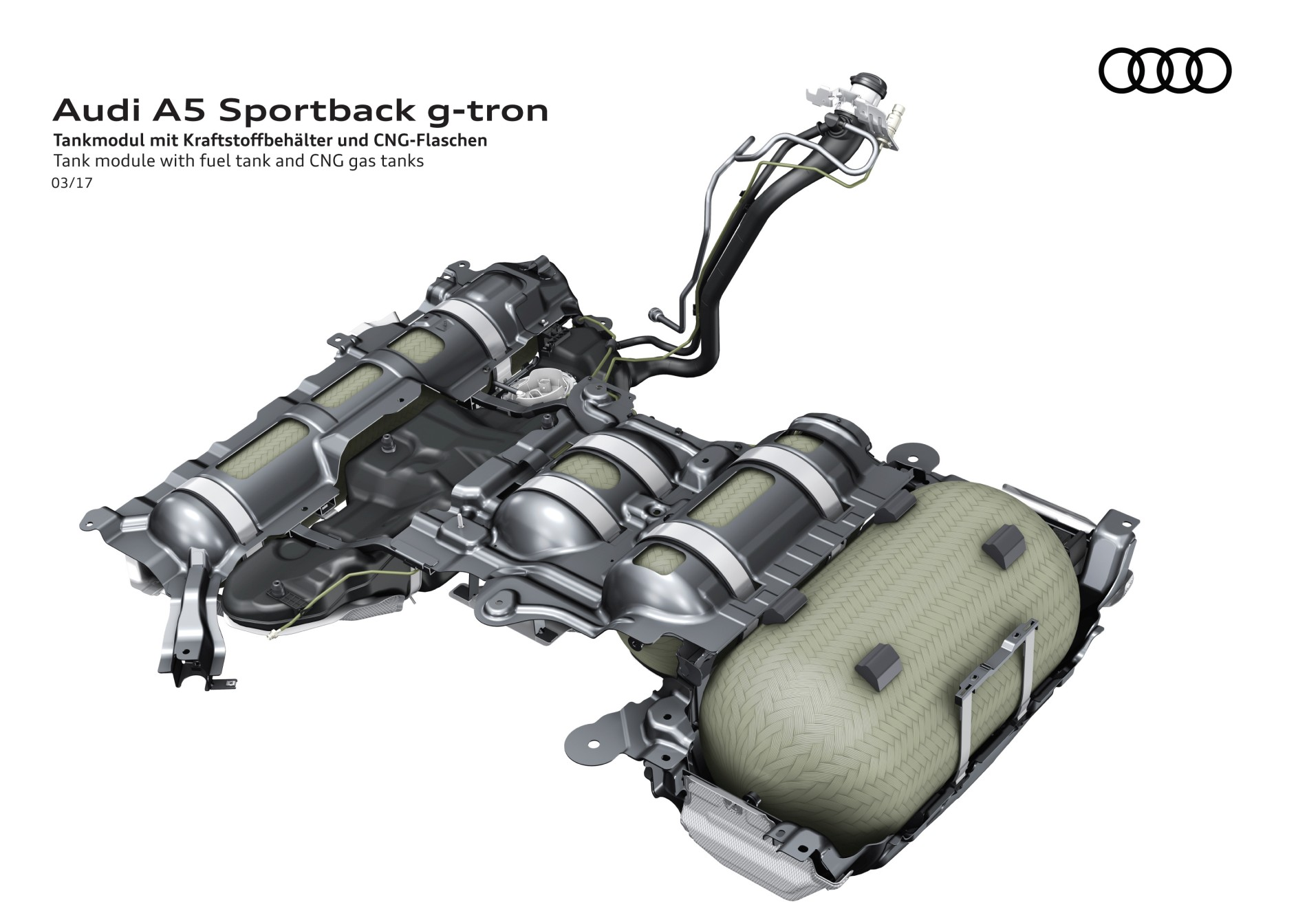 Audi A5 Tankmodue CNG