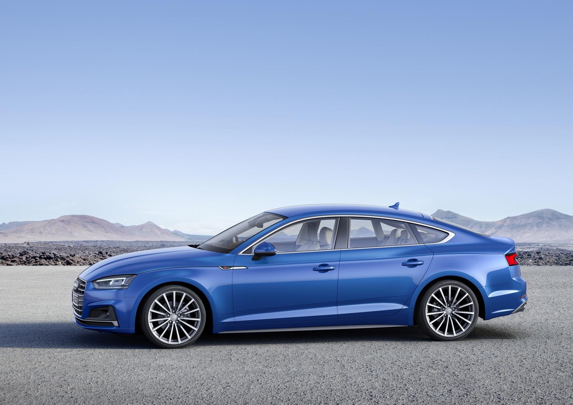 Audi A5 Sportback g-tron in Scruba Blue