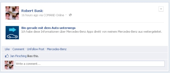 Benz to FB