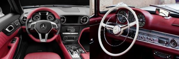 Neuer Mercedes SL und alter 300 SL