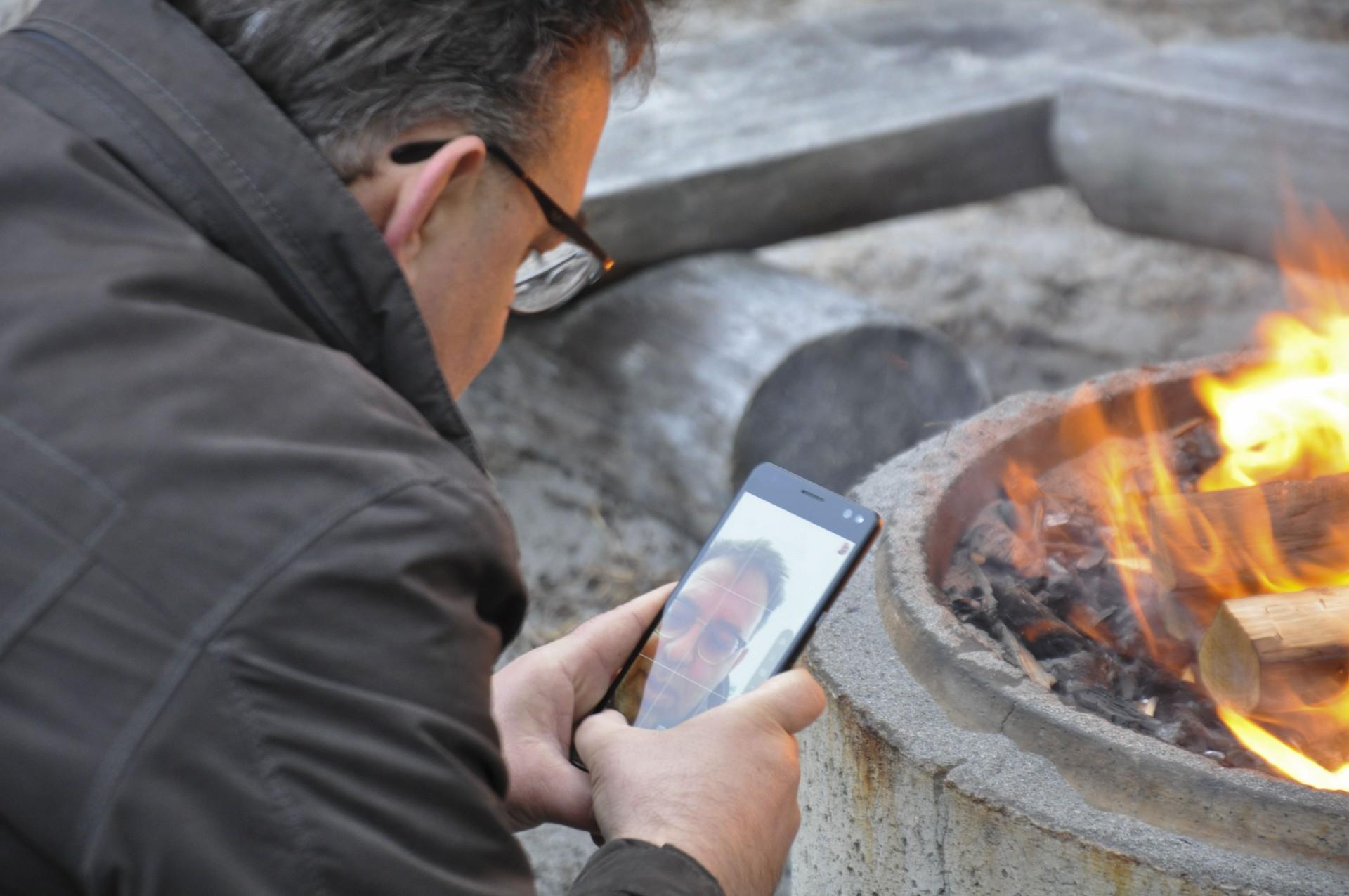HP Elite x3 - Feuer machen